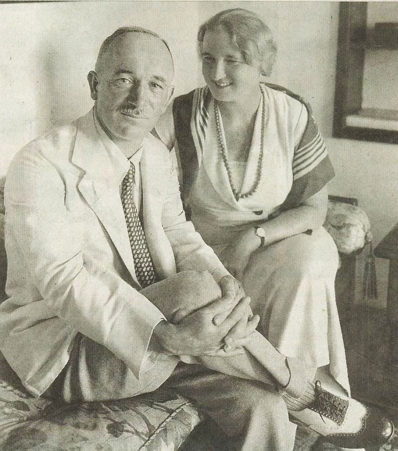 Edvard Benes with his wife in 1934